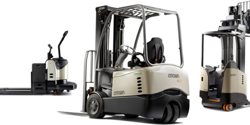 3 different Crown forklifts for sale